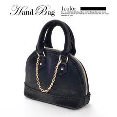 [2way]シンプルチェーン付きミニハンドバッグ