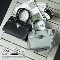 10/27UP [全2色][2way]南京錠ベルトワンカラーミニハンドバッグ