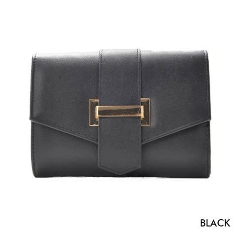 [全2色][2way]シンプルマルチクラッチバッグ(ブラック-フリーサイズ)