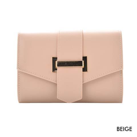 [全2色][2way]シンプルマルチクラッチバッグ(ベージュ-フリーサイズ)