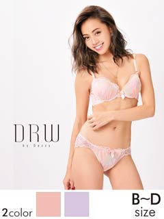 透けショーツ付タイダイ柄刺繍ブラジャー&ショーツ/SEXY