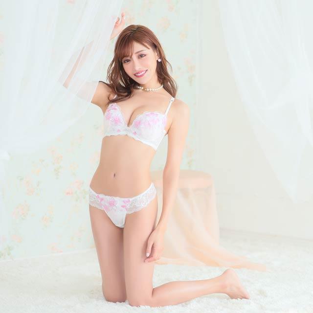 【明日花キララ着用】Lily Flower Lace Bra&T-back リリーフラワーブラ&Tバック[Whip Bunny]