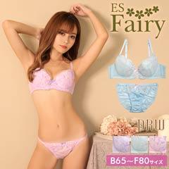 10/26新作!【Fairy】フラワーリボンエンブロイダリーブラジャー&フルバックショーツ