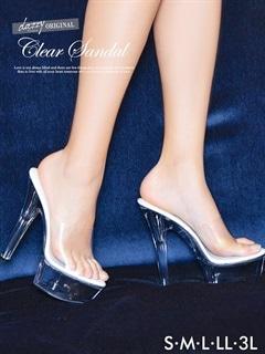 [dazzyオリジナル][15cmヒール]クリアサンダル