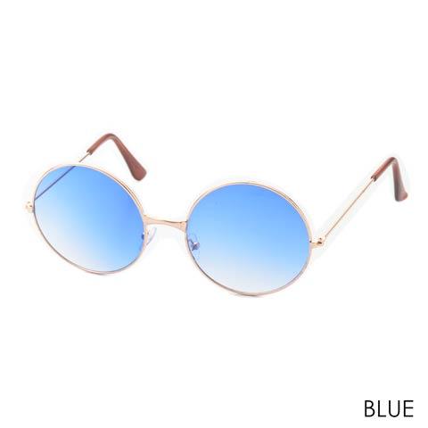 ライトカラーラウンドサングラス(ブルー)