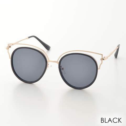 キャットアイフレームサングラス(ブラック)