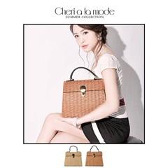 [dazzyオリジナル][Cheri a la mode][2way]エンベローブ型かごバッグ