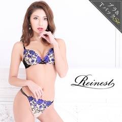 10/24再販!【Reinest】ロマンティックブルームブラジャー&Tバックショーツ