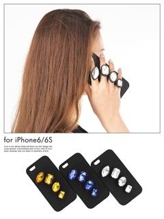 大粒ビジュー付きiphone6/iphone6sケース