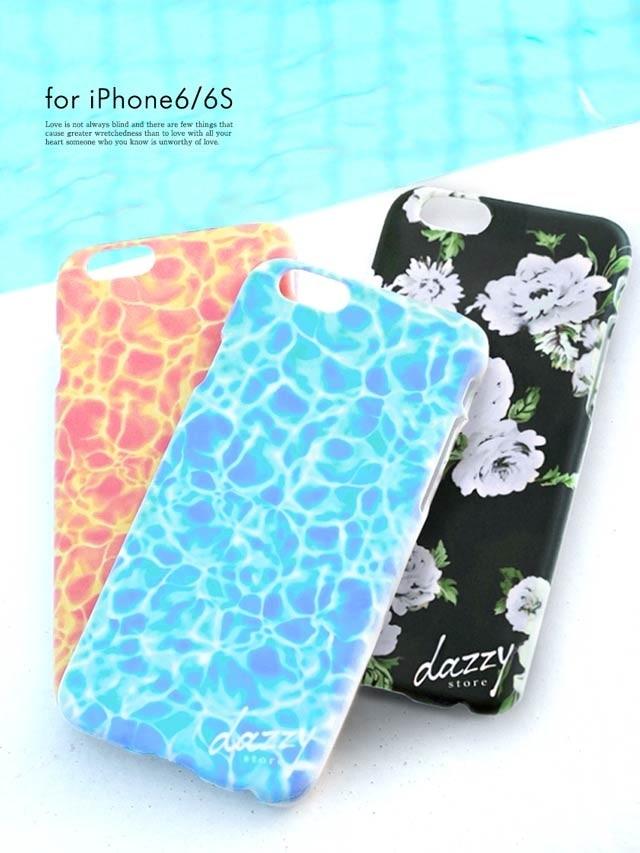 iPhone6/6sケース ウォーターサーフェイス柄[dazzy beach]