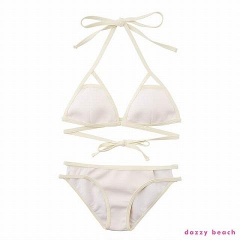 バインダーボンディングビキニ/水着【dazzy beach/2021ビキニ】(ホワイト-Sサイズ)