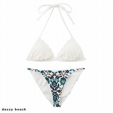 ジャスミンオリエンタルビキニ/水着【dazzy beach/2021ビキニ】(ホワイト-Sサイズ)