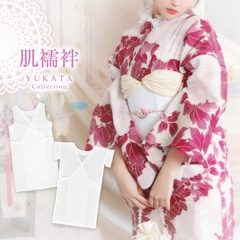 [2Type]レース付クレープ和装肌着スリップ[2019年新作/YUKATA by dazzy][5/23再入荷]