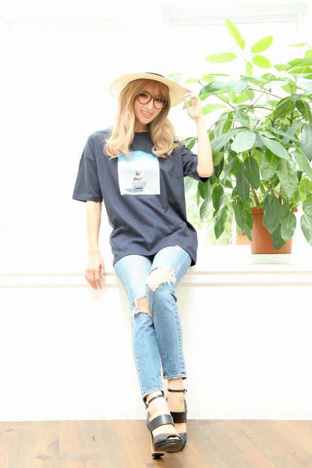 BEACHプリントTシャツ[dazzycloset]