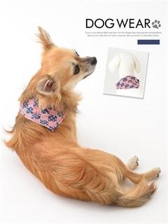 [犬用品]アメリカンテイスト柄バンダナ