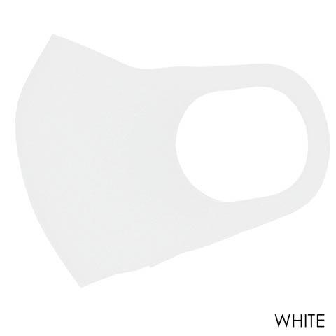 洗って繰り返し使えるブラック立体フィットマスク 3枚入り【ウイルス対策・予防アイテム】(ホワイト)