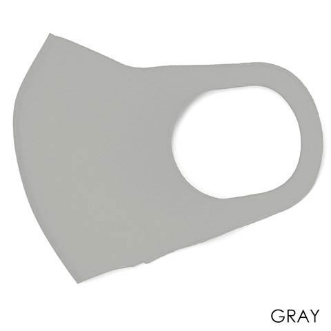 洗って繰り返し使えるブラック立体フィットマスク 3枚入り【ウイルス対策・予防アイテム】(グレー)