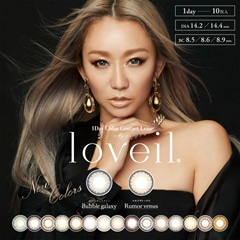 3/6UP【1DAY/ワンデー/度あり・なし】loveil アクアリッチ/1箱10枚入り