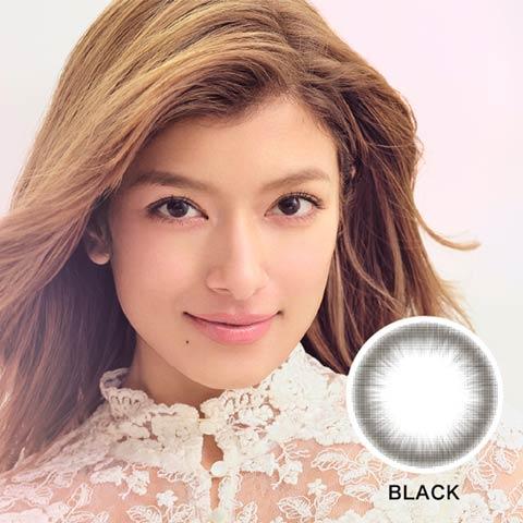 ローライメージモデル ReVIA CIRCLE レヴィア サークル / カラコン 【1month/度なし/14.1mm】(ブラック-0.00)
