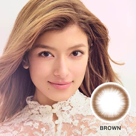 ローライメージモデル ReVIA CIRCLE レヴィア サークル / カラコン 【1month/度あり/14.1mm】(ブラウン--0.50)
