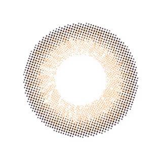 ゆうこすプロデュース Chu's me 1day チューズミーワンデー【1day/度あり・度なし/14.2mm】(シフォンブラウン-0.00)