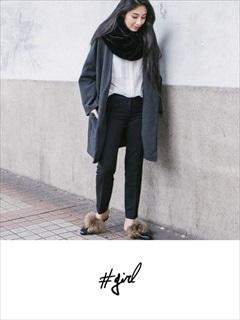 [#girl]ノーカラーコート