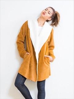 [#girl]スウェードドッキングコート