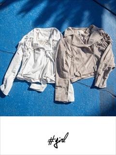 [#girl]フェイクスエードフリンジジャケット