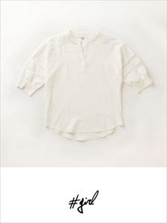 [#girl]ノーカラースキッパーシャツ