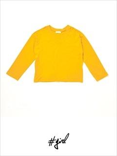 [#girl]VネックルーズロングTシャツ