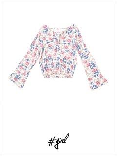 [#girl]ロイヤルフラワートップス