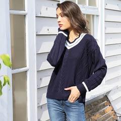 spring line knit[カジュアル/dazzy closet]