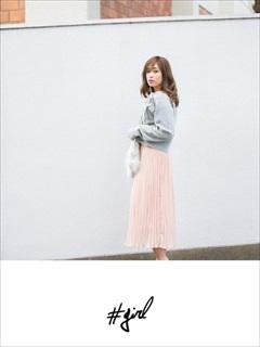 [#girl]シフォンプリーツスカート