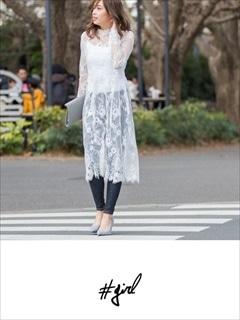 [#girl]レースマキシワンピ