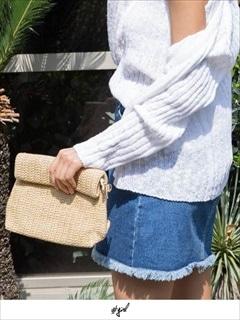 [#girl]ヘンプクラッチバッグ