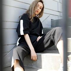 ロングスリーブサイドラインセットアップ(七分袖)[カジュアル/dazzy closet]