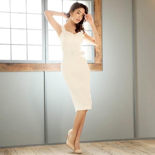 2/11UP[S/Mサイズ]design shoulder dress -デザインショルダードレス-[2サイズ展開][change clothes][送料無料]