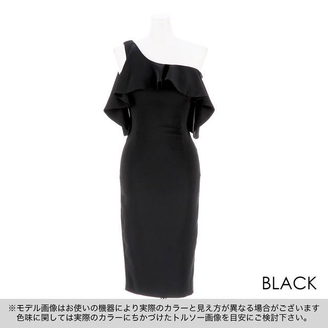 [SMLサイズ]ワンカラーワンショルダータイトドレス[3サイズ展開]