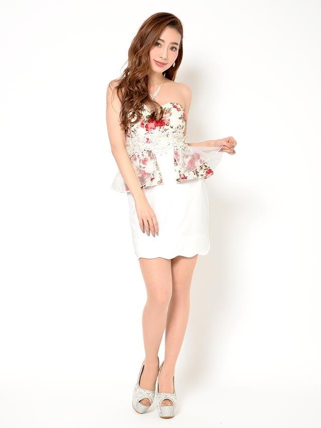 [S/Mサイズ]立体フラワーレースベア花柄ペプラムタイトミニドレス[2サイズ展開]