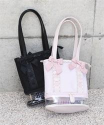 【均一価格/WEB限定】ドットチュール切り替えバッグ