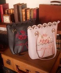ブーケ刺繍トートバッグ