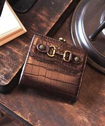 クロコビット財布【Web価格】(茶-M)