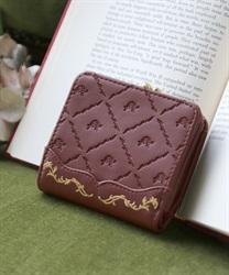 型押しミニ財布(茶-M)