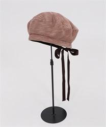 バックリボンベレー帽(淡ピンク-M)