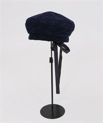 バックリボンベレー帽(紺-M)