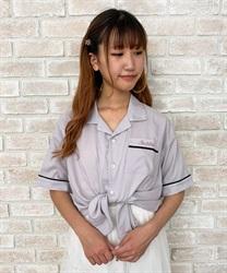 【web価格/15H限定】ロゴ刺繍ボウリングシャツ