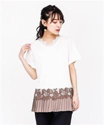 【OUTLET】裾プリーツデザインプルオーバー