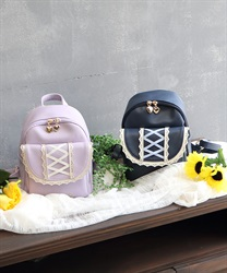 【OUTLET】(キッズ)ハート×レースアップリュック