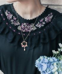 【予約】紫陽花モチーフネックレス