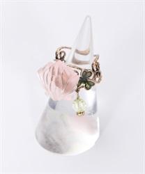 白詰草フリーリング(淡ピンク-M)
